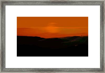 Framed Print featuring the digital art Scalett's Reflection by Anthony Fishburne