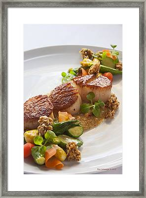 Scallops Framed Print by Ron Schwager