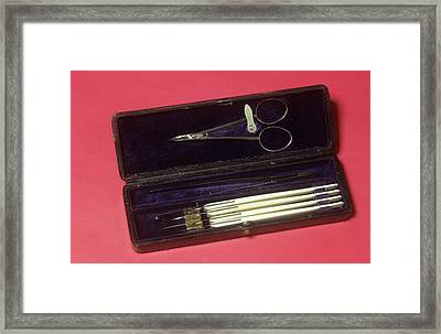 Scalpel Set Framed Print by Science Photo Library