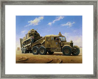 Scammell Pioneer 1942. Framed Print