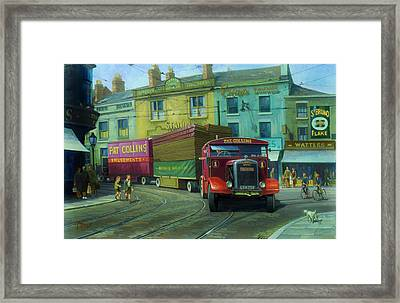 Scammell Showtrac Framed Print by Mike  Jeffries