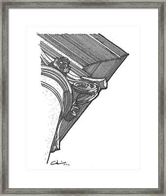 Framed Print featuring the drawing Scamozzi Column Capital by Calvin Durham