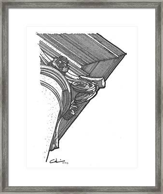 Scamozzi Column Capital Framed Print