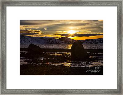 Scandinavian Lake  Framed Print