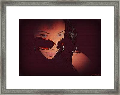 Scanned - Ai P. Nilson - Digital Art - Self Portrait Framed Print