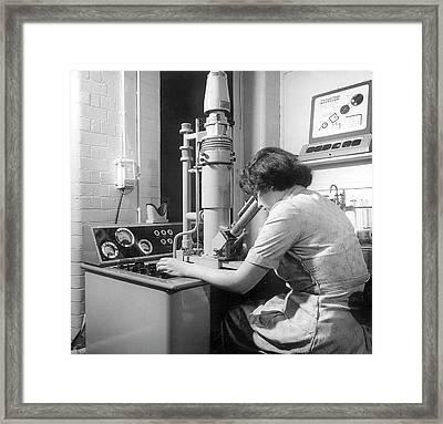 Scanning Electron Microscopy Framed Print