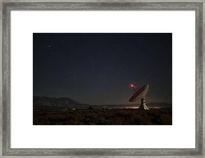Scanning The Heavens Framed Print by Andrew Soundarajan
