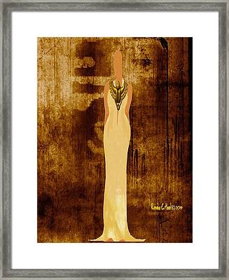 Scarab Sista Goddess Framed Print by Romaine Head