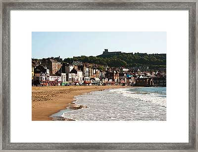 Scarborough Wave Framed Print by Svetlana Sewell