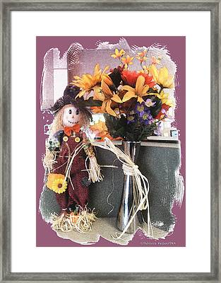 Scarecrow And Company Framed Print by Patricia Keller