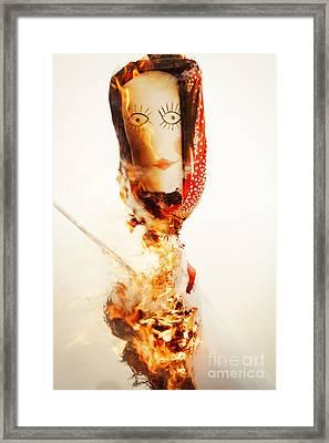 Scarecrow Burning Framed Print