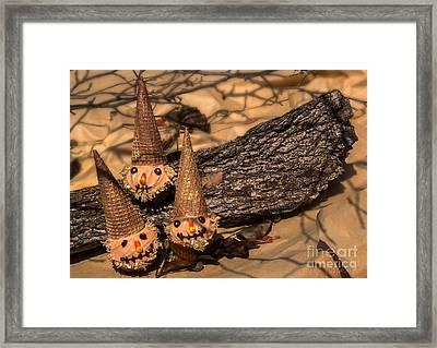 Scarecrow Cupcakes Framed Print
