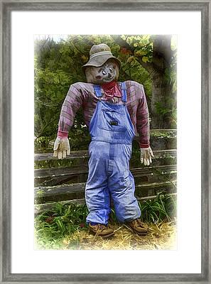 Scarecrow Framed Print by John Haldane