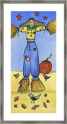 Scarecrow Framed Print by Norma Appleton