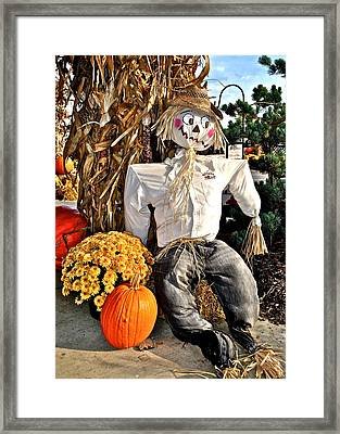 Scarecrow Framed Print by Frozen in Time Fine Art Photography