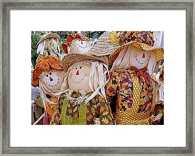 Scarecrows Framed Print by Janice Drew