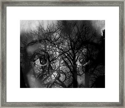 Scared Framed Print