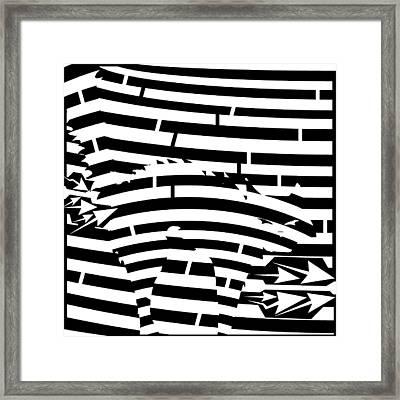 Scared Kitty Maze Framed Print by Yonatan Frimer Maze Artist