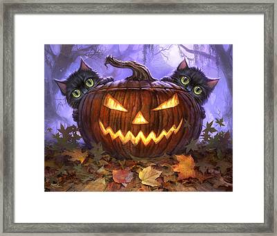 Scaredy Cats Framed Print