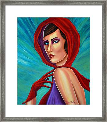Scarf And Gloves Framed Print