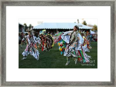Scarf Fancy Dancer Framed Print by Scarlett Images Photography