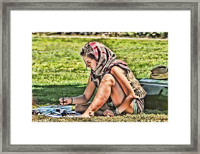 Scarf Makes The Artist Framed Print