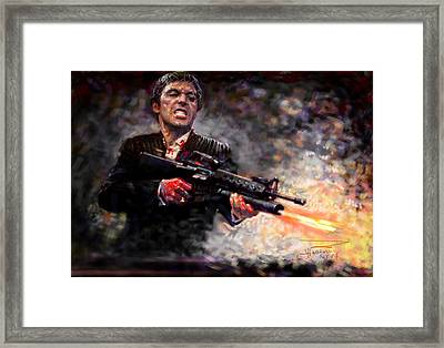 Scarface Framed Print by Viola El