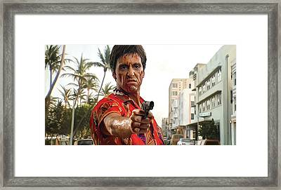 Scarface Artwork 2 Framed Print by Sheraz A