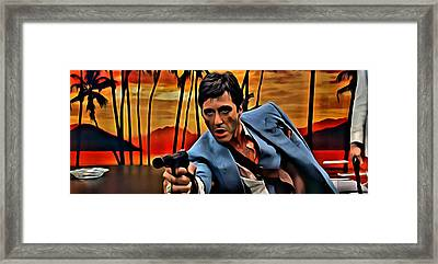 Scarface Framed Print by Florian Rodarte