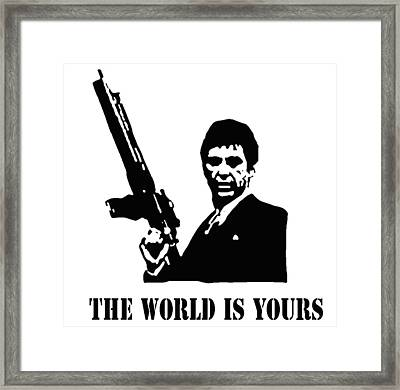 Scarface Framed Print by Guido Prussia