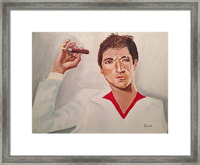 Framed Print featuring the painting Scarface by Justin Lee Williams