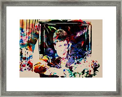 Scarface Paint Drops Framed Print