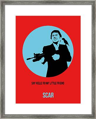 Scarface Poster 1 Framed Print by Naxart Studio