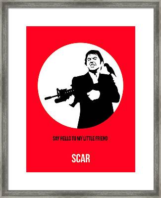 Scarface Poster 2 Framed Print by Naxart Studio