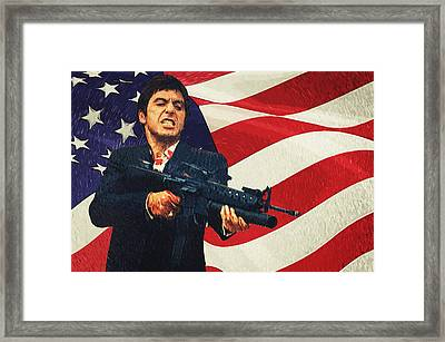 Scarface Framed Print by Taylan Apukovska