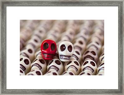 Scarlet And White Framed Print by Mike Herdering