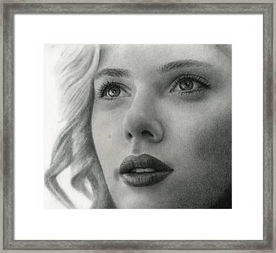 Scarlet Johansson Framed Print