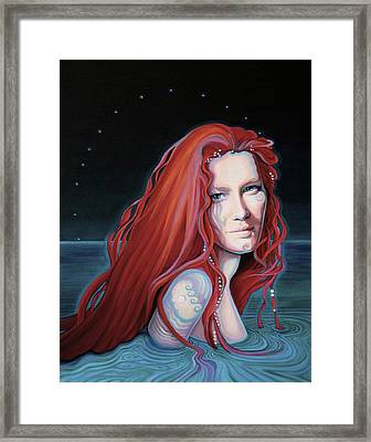 Scarlet Lake-merissa Waits Framed Print
