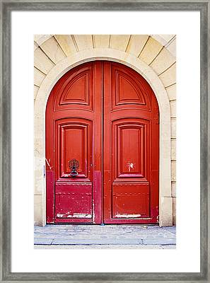 Scarlet Red Doors - Paris Framed Print