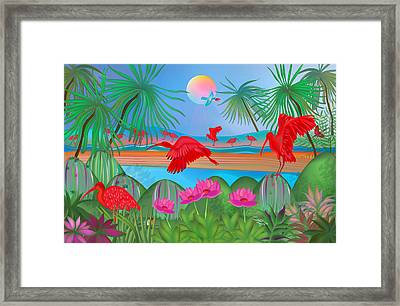 Scarlet Party - Limited Edition 1 Of 20 Framed Print by Gabriela Delgado