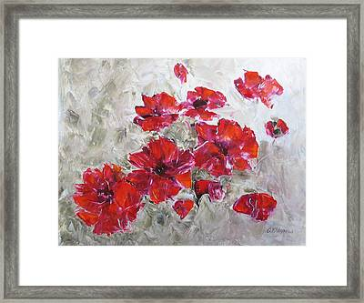Scarlet Poppies Framed Print