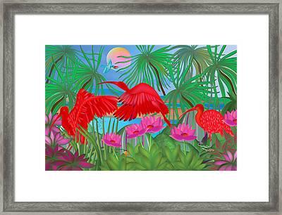 Scarlet Summer Dance - Limited Edition 1 Of 20 Framed Print