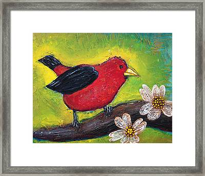 Scarlet Tanager Framed Print by Laura Barbosa