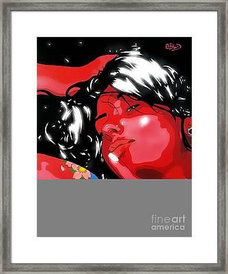 Scarlet's Passion Framed Print