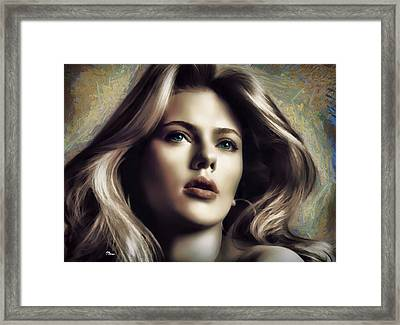 Scarlett 1 Framed Print by Luis Blanco