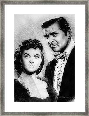 Scarlett And Rhett Framed Print by Andrew Read