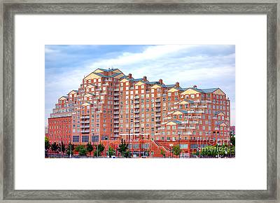 Scarlett Place Baltimore Framed Print by Olivier Le Queinec
