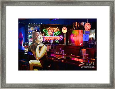 Scarlett's Night Out Framed Print by Judy Kay