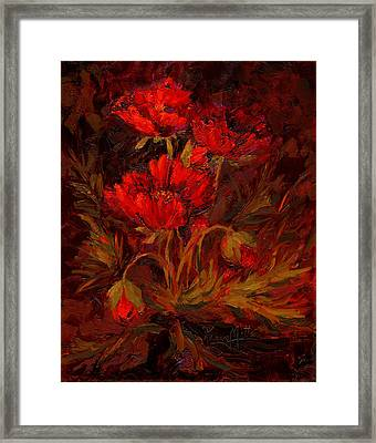 Scarlett's Song Framed Print by Karen Mattson