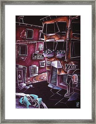 Scarpe Da Tango - Contemporary Venetian Artist - Modern Art Framed Print by Arte Venezia